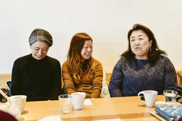 左から、斉藤和枝さん、根岸えまさん、小野寺紀子さん
