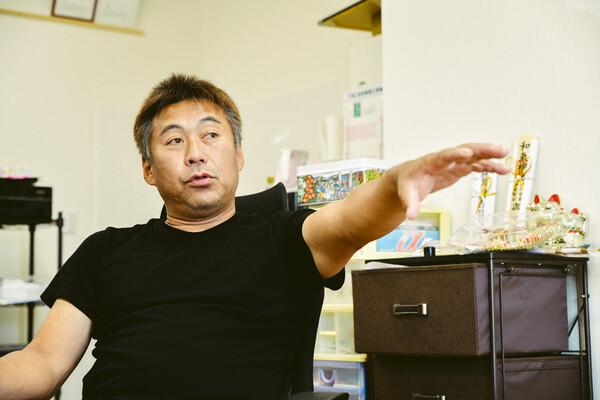 日笠山誠さん。誠さんの家は代々漁師の家系。お父さんもまだ現役
