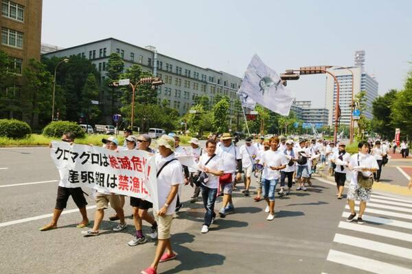 茂木さんが日本で行ったデモの様子