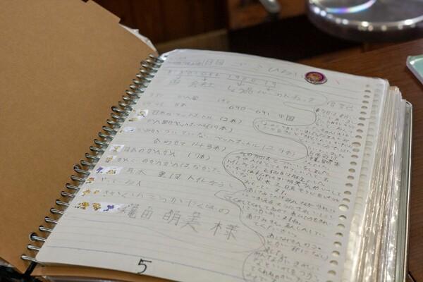 りりちゃんがビーチクリーン初日に書いた、作文用のメモ
